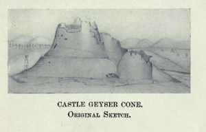 Castle Geyser Cone Original Sketch