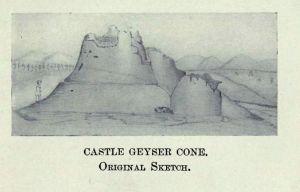 Castle Geyser Cone Original Sketch