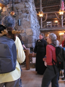 Docent lead tour of the Inn